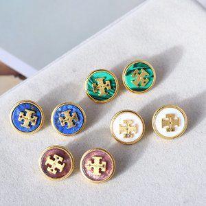 Tory Burch Multicolor Shell Earrings